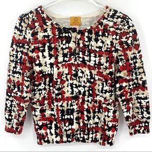 RUBY RD. Cardigan Sweater Petite 3/4 Sleeve: SZ. S